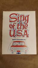 1964 Chevrolet Dealer Promo Song Book NOS Corvette,Chevelle,Impala,Corvair MINT