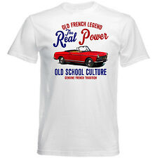 VINTAGE FRENCH CAR PEUGEOT 404 CABRIOLET - NEW COTTON T-SHIRT