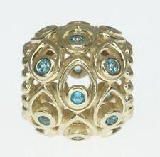 14K Yellow Gold ALE Pandora Charm Bracelet Bead Ocean Treasures