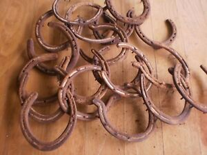SIX  horse shoes