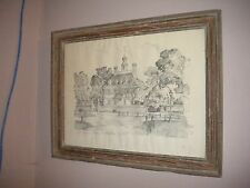 Governor's Palace Colonial Williamsburg Virginia Charles Overly Drawing Framed