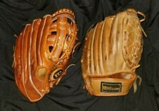 "Wilson A2960 Ron Guidry 10"" and A2965 12"" Leather Baseball Gloves RHT"