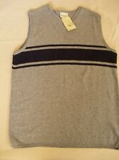 NEW Mens Large RESOLUTE BAY Sweater Vest  Gray and Navy