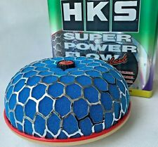 3''High HKS ID:100mm Super Power Air Filter Flow Intake Reloaded Cleaner Blue#B1