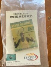 2005 Us Open Venus Williams Tennis Pins (2) with original backings