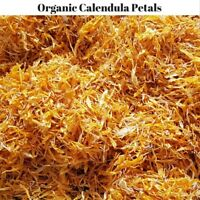 100 Gram Dried Certified Organic Calendula Petals  Herb Tea - Officinalis Petals