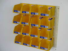 Fischer Stor-Pak Plastic boxes with a Brownbuilt Metal Louvre Panel SP2