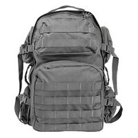 NcStar Heavy Duty PALS Utility Camping Hiking Tactical MOLLE Backpack Urban Grey