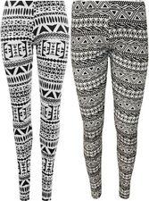 Leggings da donna nero in viscosa di lunghezza totale