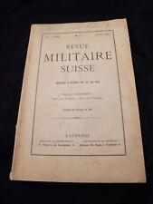 Revue militaire Suisse N°3 Mars 1909