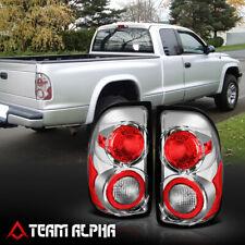 Fits 1997-2004 Dodge Dakota<EURO ALTEZZA>Chrome/Clear Brake Lamp Rear Tail Light