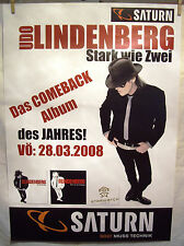 2008 Udo Lindenberg Stark wie Zwei Poster / Plakat von Saturn leicht geknickt