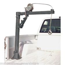 1/2 Ton Pickup Truck Trailer Crane w/ 25' Cable Winch 3 Ton Hydraulic Jack FEDEX