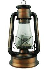 "Hurricane Oil Lantern 12"" Bronze Plated Vintage Style Lamp Indoor - Outdoor"