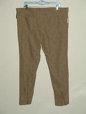 NWT Womens Mossimo Size 18 (41X28.5) Tan Ankle Skinny Jeans Patterned 108-5215