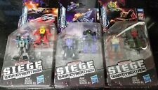 Transformers War For Cybertron Siege Micromaster Patrol 2-Pack WAVE 1 SET OF 3