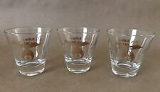 Vintage Masonic Freemason Shriner 3 Shot Glasses Earl J Brothers Potentate 1964