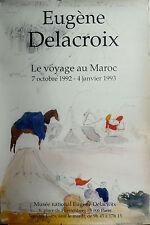 Affiche Exposition Eugène Delacroix / Le voyage au Maroc / 1992-1993