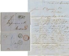 POLAND RUSSIA 1867 LETTER BUHRKE OVAL WARSAW RED TPO AMB No.11 + P.38 + RUSSLAND