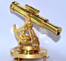 Vintage Theodolite Shiny Brass Alidade Compass Handmade Nautical Survey Alidade