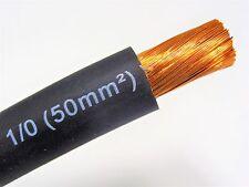 100' EXCELENE 1/0 AWG WELDING/BATTERY CABLE BLACK 600V MADE IN USA EPDM COPPER