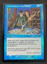 MTG Magic The Gathering FOIL Accumulated Knowledge Nemesis SPANISH HP