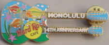 Hard Rock Cafe Honolulu 2001 14h Anniversary Pin Fish on Dn Guitar - Hrc #3202