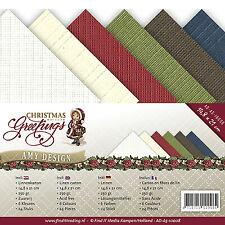 Karten-karton Papier Leinen Christmas Greetings Weihnacht Amy Design AD-A5-10008