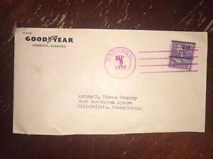 3c Prexie Gadsden  Ala. Precancel On 1939 Goodyear Cover Pink 4 Bar Cancel
