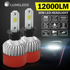 H3 120W Philips LED Headlight KIT HIGH LOW Beam Replace Halogen Xenon 12000LM