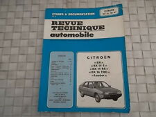 REVUE TECHNIQUE CITROEN BX 14 E - BX 14 RE - BX 14 TRE - LEADER