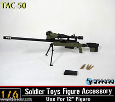 TAC 50 Green Color by ZY Toys 1/6th Scale Rifle for 12 inches Action Figure