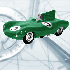 MODEL CAR PLAN LE MANS 'D' JAGUAR GAS OR ELECTRIC 1/8 Scale MODEL CAR PLANS