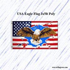 USA Eagle Flag 3x5ft Poly