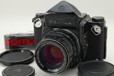 【Exc++++】 Pentax 6x7 Eye Level + Takumar 105mm F2.4 + Strap 67 From Japan #1633