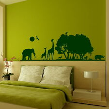 African Landscape Africa Wall Sticker Home Art Decal Vinyl Transfer SML/RGRN th1