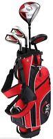 """NIB TGA Premier Junior Golf Club Set Red w/ Stand Bag Ages 6-8 (3'8""""-4'4"""") RH"""