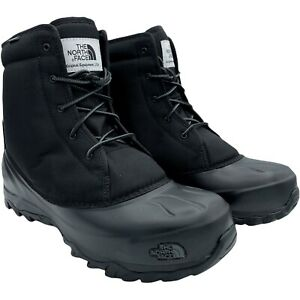 THE NORTH FACE TSUMORU BLACK WATERPROOF MEN'S BOOTS US SIZE 10