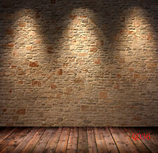 Brick Wall Wood floor Vinyl Studio Backdrop Photography Background 10x10FT QD36