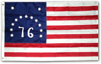 2x3 Ft BENNINGTON 76 FLAG DELUXE EMBROIDERED NYLON USA BANNER 1776 BATTLE