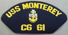 US Navy Cap Patch USS Monterey CG-61 With Senior Chief Petty Officer Insignia