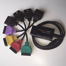 MULTIECUSCAN FIATECUSCAN Fiat Alfa ELM 327 v1.4 OBD2 cable + Coloured Adapters