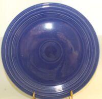 "Fiesta Original Cobalt Blue Luncheon Lunch Plate 9 1/2"" Fiestaware Vintage"