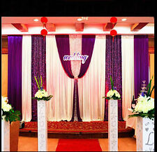 Wedding decorations Stage backdrop party drapes with swag silk fabric curtain