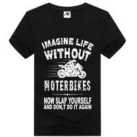 Life Without Motorbike Printed TShirt Ladies Short Sleeve Cotton Novelty Top Tee