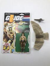 Vintage Hasbro GI Joe RAPTOR (v1) ~ 1987 Series 6 ~ Cobra Falconer Complete