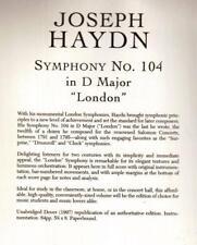 "Joseph Haydn, Symphony No. 104 in D Major, ""London"" Miniature Music Score."