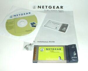 (GA) GENUINE NETGEAR FA511 CARDBUS NOTEBOOK 10/100 ETHERNET ADAPTER w/DISK NoBox
