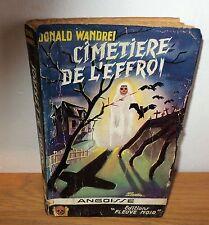 Très rare Livre edition fleuve Noir Angoisse N°1 Cimetière de l'effroi