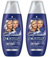 2x8.45oz Schauma Silver Reflex Shampoo Simmer Blonde Grey Hair Anti-Yellow 500ml